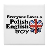 Polish English Boy Tile Coaster