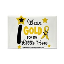 I Wear Gold 12 Little Hero CHILD CANCER Rectangle