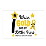 I Wear Gold 12 Little Hero CHILD CANCER Postcards