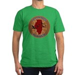Illinois Birder Men's Fitted T-Shirt (dark)