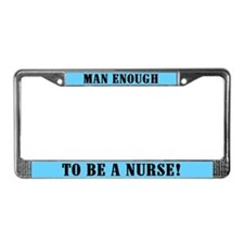 Male Nurse License Plate Frame