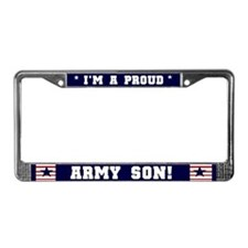 Proud Army Son License Plate Frame