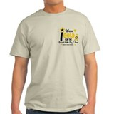 I Wear Gold 12 Brave Boy CHILD CANCER T-Shirt