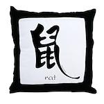 Rat (2) Throw Pillow