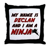 my name is declan and i am a ninja Throw Pillow