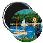 Sailboats / Flat Coated Retri Magnet