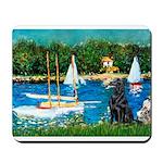 Sailboats / Flat Coated Retri Mousepad