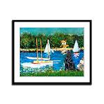 Sailboats / Flat Coated Retri Framed Panel Print