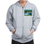 Sailboats / Flat Coated Retri Zip Hoodie