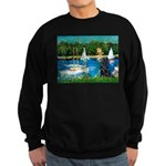 Sailboats / Flat Coated Retri Sweatshirt (dark)