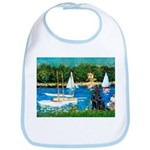 Sailboats / Flat Coated Retri Bib