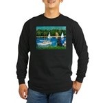 Sailboats / Flat Coated Retri Long Sleeve Dark T-S