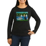 Sailboats / Flat Coated Retri Women's Long Sleeve