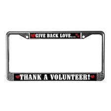 Thank a Volunteer License Plate Frame