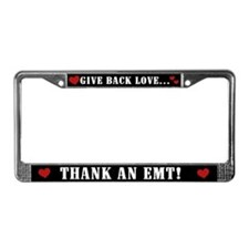 Thank an EMT License Plate Frame