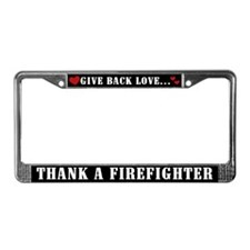 Thank a Firefighter License Plate Frame
