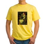 Ophelia / Flat Coated Retriev Yellow T-Shirt