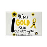 I Wear Gold 12 Granddaughter Rectangle Magnet