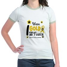 I Wear Gold 12 Niece CHILD CANCER T