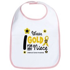 I Wear Gold 12 Niece CHILD CANCER Bib