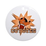Coyotes Football Team Ornament (Round)