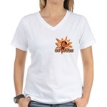 Coyotes Football Team Women's V-Neck T-Shirt