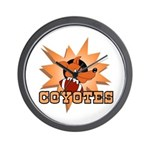 Coyotes Football Team Wall Clock