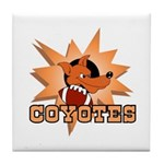 Coyotes Football Team Tile Coaster