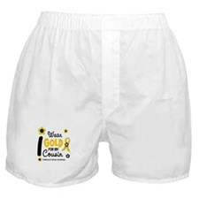 I Wear Gold 12 Cousin CHILD CANCER Boxer Shorts