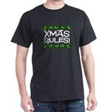 Xmas Rules Black T-Shirt