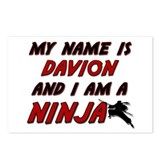 my name is davion and i am a ninja Postcards (Pack