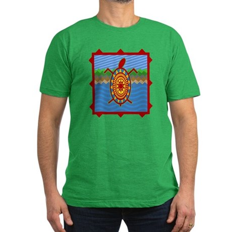 Southwestern Sea Turtle Scene Men's Fitted T-Shirt