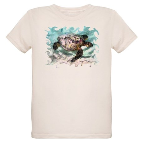 Swimming Sea Turtle Organic Kids T-Shirt
