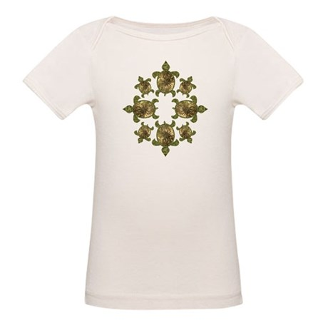 Garden Turtles Organic Baby T-Shirt