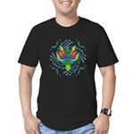 Flying Turtle Men's Fitted T-Shirt (dark)