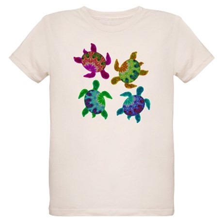 Multi Painted Turtles Organic Kids T-Shirt