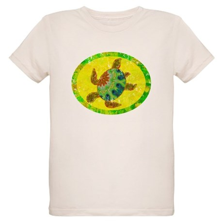 Distressed Turtle Organic Kids T-Shirt