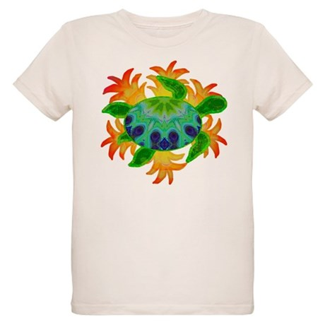 Flame Turtle Organic Kids T-Shirt