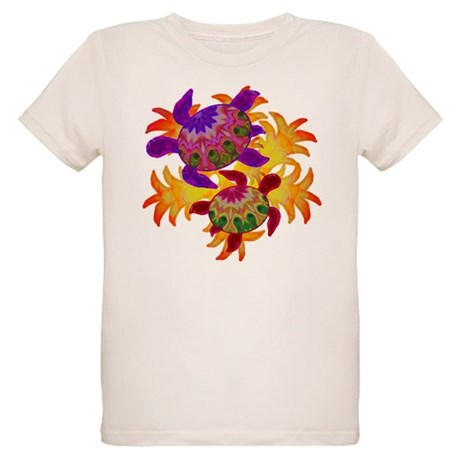 Flaming Turtles Organic Kids T-Shirt