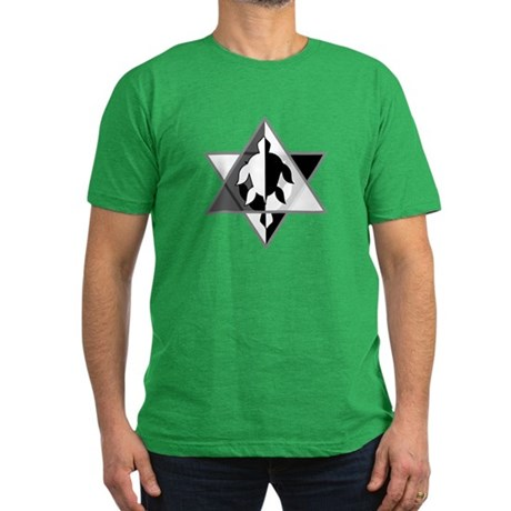 Star Turtle Men's Fitted T-Shirt (dark)