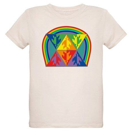 Turtle Triangle Rainbow Organic Kids T-Shirt