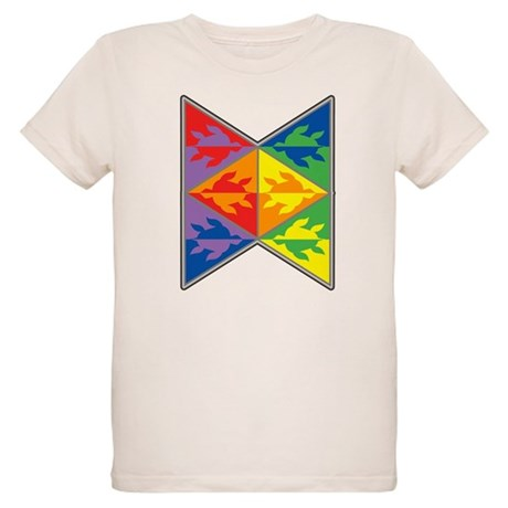 Rainbow Triangle Turtles Organic Kids T-Shirt