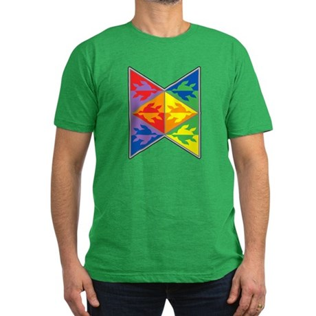 Rainbow Triangle Turtles Men's Fitted T-Shirt (dar