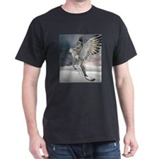 griffin in flight Black T-Shirt