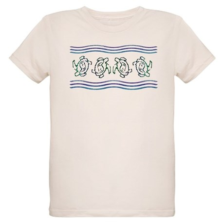 Turtles in Waves Organic Kids T-Shirt