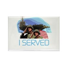 Military I Served Rectangle Magnet