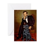 Lincoln / Flat Coated Retriev Greeting Card