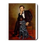 Lincoln / Flat Coated Retriev Mousepad