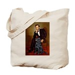 Lincoln / Flat Coated Retriev Tote Bag