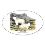 Audubon Mountain Goat Animal Oval Sticker (10 pk)